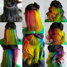 Peek a boo rainbow inspired by @phildoeshair #btconeshot_rainbow16 #americansalon #michellezapanta #salon25 #modernsalon #behindthechair #hotonbeauty #picoftheday #inspirehairstyles #licensedtocreate #xostylistxo #cosmoprofbeauty #hair #hairstylist #balayage #embeemeche #hairdye #authentichairarmy #nofilter #thebalaycollage #myscconnection #hairoftheday #instalike #love #embeemecheauthentic #rainbowhair #pulpriothair michelle.zapanta   WEBSTA - Instagram Analytics