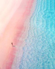 Pink Beach 💕 Doesn't it look heavenly 😍 📍Pink Sand Beach, Bahamas Bahamas Honeymoon, Bahamas Vacation, Pink Sand Beach Bahamas, Pink Sands Bahamas, The Bahamas, Pink Ocean, Nassau Bahamas, Blue Beach, Wonderful Day