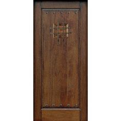 Main Door Rustic Mahogany Type Prefinished Distressed Solid Wood Speakeasy Entry Door Slab-SH-901-RUSTIC at The Home Depot