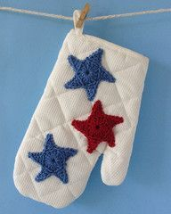 Maggie's Crochet · Patriotic Oven Mitt - Free Crochet Pattern