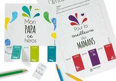 """Affiche à imprimer et à compléter pour offrir des """"bons pour"""" à l'occasion de la fête des mamans ou des papas. Une idée originale et rapide de Wesco Family"""