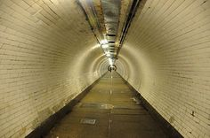 Photos of Greenwich to Canary Wharf and Greenwich foot tunnel, south east London, 2008 they reckon theres 200,000 white tiles