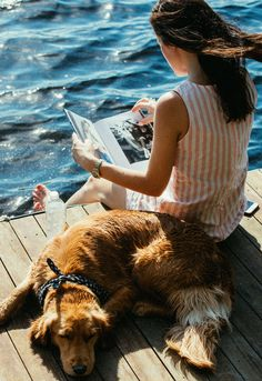 The unabridged, photographic tale & life of New Englanders Kiel James Patrick and Sarah Vickers. Mans Best Friend, Girls Best Friend, Pacsun, Animals And Pets, Cute Animals, Golden Retriever, Rosie Huntington Whiteley, Lake Life, Plein Air