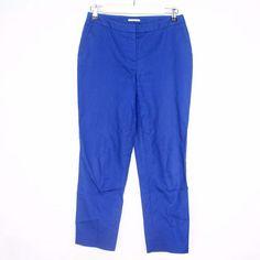 HALOGEN Womens Taylor Fit Capri Crops Blue Pants Career Spring Sz 0 B4  | eBay