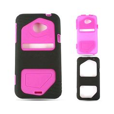 Cell Armor Hybrid Fit Jelly Case for HTC Evo LTE - Purple Skin with Black Jelly Case, Evo, Phone Cases, Purple, Black, Black People, Viola, Phone Case