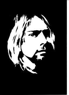 kurt cobain stencil - Google Search