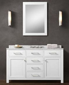 white vanity bathroom - Google Search
