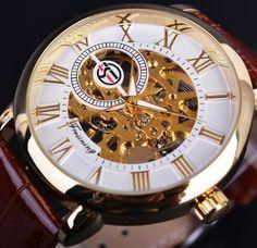 Forsining Hallow Dial, SeeThrough Gears Men Wrist Watch