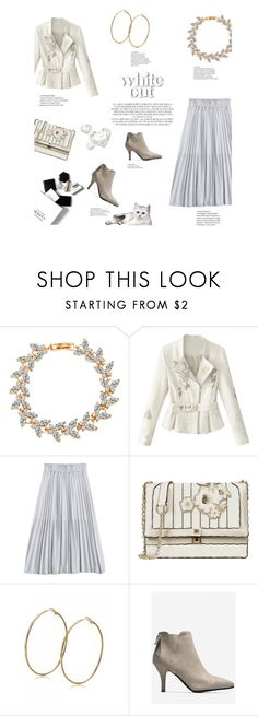 """""""White out"""" by stellina-from-the-italian-glam ❤ liked on Polyvore featuring H&M and Rachel"""