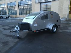 Standard painted aluminum silver trailer with black trim