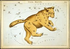 Items similar to Vintage Ursa Major Constellation Print. Urania's Mirror Star Chart Astrology Astronomy - on Etsy Ursa Major, Little Dogs, Fine Art Prints, Framed Prints, Canvas Prints, Framed Wall Art, Big Dipper, Art Of Manliness, Star Chart