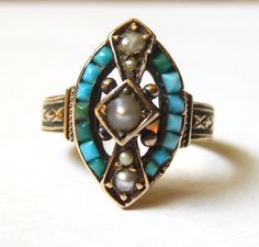 RESERVED LISTING Antique Victorian Turquoise by magwildwoodscloset