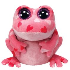 big eys justice shop | ... Boos - SMITTEN the Pink Frog (Glitter Eyes) (Regular Size - 6 inch