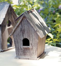 RUSTIC BIRDHOUSE COTTAGE. I love the simplicity of this one. Oh to find some barn board.