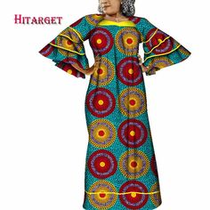 African Maxi Dresses, African Outfits, Latest African Fashion Dresses, African Print Clothing, African Print Fashion, Africa Fashion, Bell Sleeve Dress, Bell Sleeves, Ankara Styles