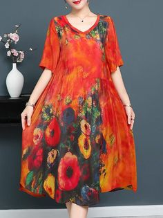 Considerate Elegant Print Lace Mid-calf Sundress Womens Turn-down Collar Shirt Party Dresses Designer Brand Summer Casual Office Work Dress Complete In Specifications Women's Clothing