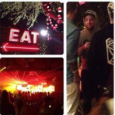 Pin for Later: Die Stars hinter den Kulissen beim Coachella-Festival  Robert Pattinson mit Kapuzenpullover und Baseball-Cap. Source: Instagram user itsjenniferward