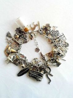 Fully loaded Harry Potter themed charm bracelet hermione