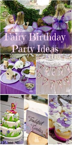 See more party ideas at CatchMyParty. See more party ideas at CatchMyParty.c… Gorgeous fairy Fairy Birthday Party, Garden Birthday, 4th Birthday Parties, Girl Birthday Party Themes, Birthday Ideas, Geek Birthday, 5th Birthday, Tinkerbell Party, Tangled Party