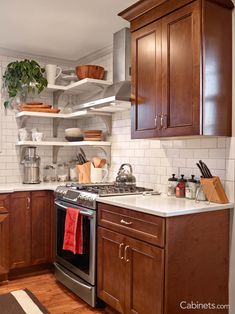 This Chestnut Colored Kitchen Is Warm And Inviting!