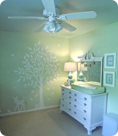 Gender Neutral Nursery with color! #Nursery #GenderNeutral