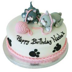 Cats Cake Cat Birthday Cake- Buy Online, Free Next Day Delivery – New Cakes Birthday Cake For Cat, Birthday Cakes For Women, First Birthday Cakes, Ballet Birthday Cakes, Birthday Kitty, Birthday Wishes, Birthday Ideas, Kitten Cake, Rodjendanske Torte