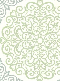 A picture of global elegance surrounds this ornate style wall covering of a gorgeous damask print flourishing a fashionable medallion design. A mint, blue and cream palette make it a perfectly serene décor piece.