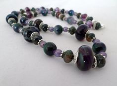 Boro Lampwork Focal Necklace by OnPurposeArtifacts on Etsy, $28.00