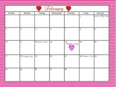 FREE Printable Calendar Pages for my menus