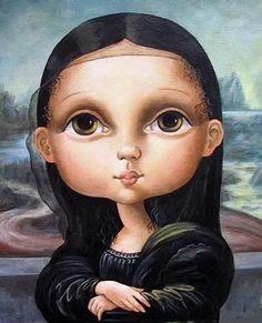 illustrations.quenalbertini: Mariarita Brunazzi's Gioconda on Pinzellades al món