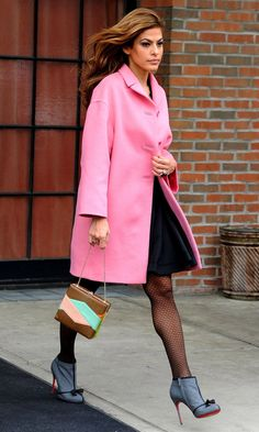 Eva Mendes Out In New York, 2013. Follow Miss Circle for more street fashion snapshots from NYC! www.misscircle.com