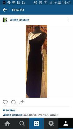 #velvet#black#cream#1sleeve#flair#evening-gown#party-wear#evening-wear#net-sleeve#
