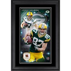 Jordy Nelson Green Bay Packers Fanatics Authentic Vertical Framed Photograph with Piece of Game-Used Football - Limited Edition of 250