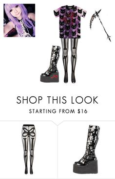 """""""Night crawler"""" by creepypasta0c ❤ liked on Polyvore featuring River Island and Demonia"""