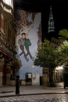Brussels, Comic Strip Route, Broussaille by Cat Girl 007, via Flickr