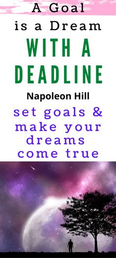 Napoleon Hill said that a goal is a dream with a deadline. In order to succeed, you must break big dreams down into smaller goals with a timeline in place. Bible Quotes, Bible Verses, Dream Quotes, Starting Your Own Business, Best Inspirational Quotes, Dream Come True, Setting Goals, How To Stay Motivated, Getting Things Done