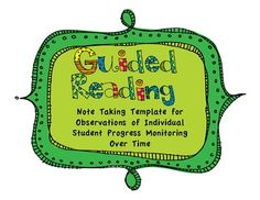 {freebie} guided reading note taking form