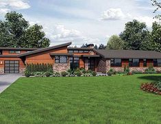 Single Story Contemporary House Plan - 69402AM   Contemporary, Northwest, Luxury, Photo Gallery, Premium Collection, 1st Floor Master Suite, Butler Walk-in Pantry, CAD Available, Den-Office-Library-Study, PDF   Architectural Designs