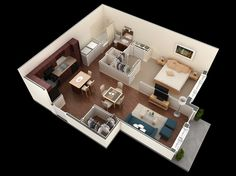 1 bath, 629 sf studio apartment at springs at stone oak village in