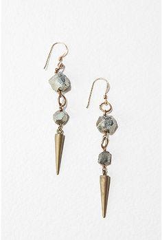 Edgy spike earrings  #jewelry