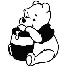 Winnie The Pooh Honey - Cartoon Decal Vinyl Car Wall Laptop Cellphone Sticker >>> Check out this great product.