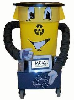 The Trentonian County Robo Willie mascot promotes recycling