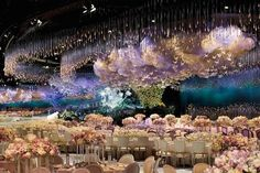 Dekoration Hochzeit - Lavomine Weekly: Dreamy Wedding Hall Designs: Is This Decoration Super-Fabulous . Wedding Reception Design, Wedding Stage, Wedding Reception Decorations, Wedding Themes, Wedding Bells, Wedding Ceremony, Wedding Venues, Wedding Dresses, Ethereal Wedding