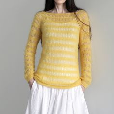 I wish I could make this sweater (Down by Kim Hargreaves) look as good as CityPurl does