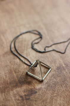 DIY Prism Necklace is made from BUGLE BEADS and thread!! Looks like something that would cost $200