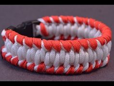 How to Make a Baseball & Softball Inspired Paracord Bracelet - BoredParacord - YouTube
