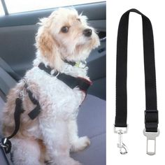 2016 New Arrival Black Dog Safety Seat Belt Restraint 12''-24'' For Car Van Lock Adjustable Pet Lead