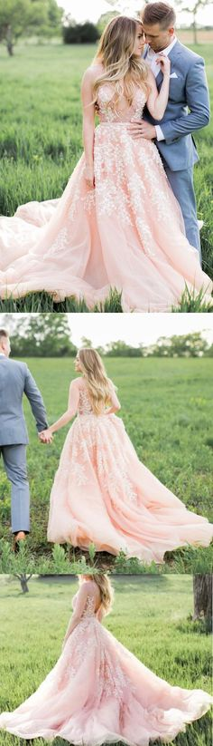 Custom Wedding dresses, Chiffon Wedding dresses, Long Wedding Dresses, Wedding dresses Train, Custom Made Wedding Dresses, Pink Wedding dresses, Long Chiffon dresses, Pink Chiffon dresses, Custom Made Dresses, Zipper Wedding Dresses, Applique Wedding Dresses, Chiffon Wedding Dresses, Cathedral Train Wedding Dresses
