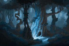 digital-candies:  Night Forest by Sammich on CGHUB