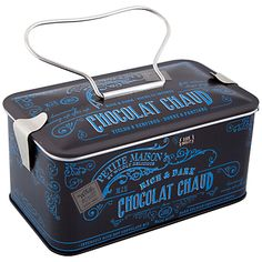 Petite Maison Rich & Dark Chocolat Chaud, Wildly Delicious | packaging...love, love, love this tin!